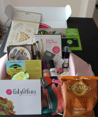 All of this in just one box! (FYI: Please ignore the open bag of popcorn-I just couldn't wait!)